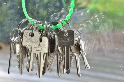 Schlüsselbund in grün